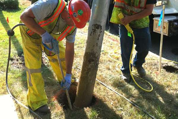 Utility Pole Digging